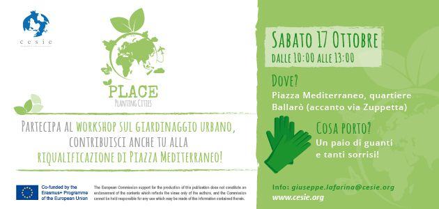 PLACE: training course on urban gardening and youth work